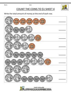 free money worksheets counting quarters dimes nickels and pennies 1 ...