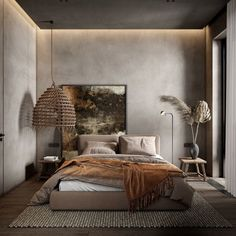 Interior Design Inspiration, Home Interior Design, Interior Architecture, Home Bedroom, Modern Bedroom, Bedroom Decor, Bedrooms, Industrial Interiors, Industrial Style