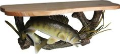 "Walleye Wood Shelf by Rivers Edge. $79.95. 22"" shelf. 22"" Real wood shelf with realistic hand painted walleye mount"