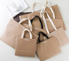 luxury gift bag, luxury paper carrier bag, yellow craft paper bag, design shopping bag