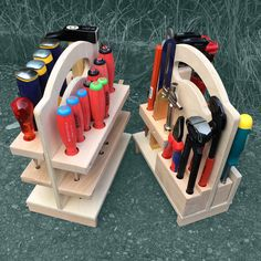 Wood Tool Box, Wood Tools, Workshop Storage, Tool Storage, Toolbox, Nerf, Projects To Try, Garage Organization, Workbenches
