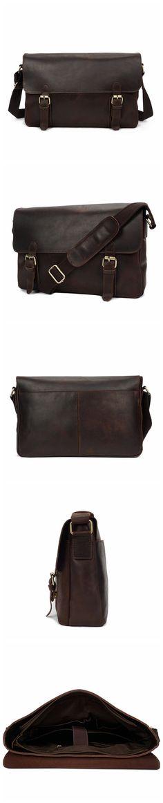 ROCKCOW Genuine Leather Men Bags Hot Sale Male Messenger Bag Man Fashion Crossbody Shoulder Bag YD009