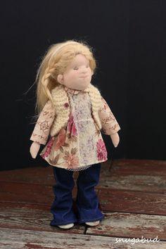 Sculpted cloth doll,  by snugabud