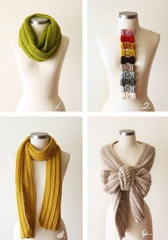 Love the one that looks like a bow! definitely trying it with some of my longer scarves!