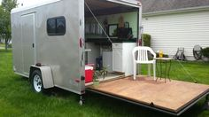 Woman Converts Cargo Trailer into Stealthy and Cozy Off-Grid RV  a post by Elizabeth Kelch —One trend in the tiny living movement is converted cargo trailers. The advantages to this are..