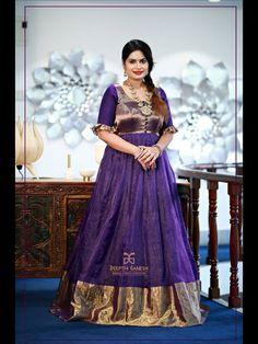 55 Ideas for wedding dresses simple silk gowns Saree Gown, Sari Dress, Lehenga, Sarees, Kalamkari Dresses, Ikkat Dresses, Indian Fashion Dresses, Indian Gowns Dresses, Long Gown Dress