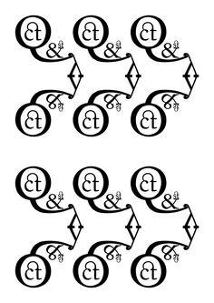 """Fournier - Pierre Simon Fournier le jeune - 1742. Pattern 3 (BN):""""Elaborato"""": Q ct & st y, Fournier regular. Ho scelto delle lettere con forme elaborate e con molte curve, per dimostrare la complessità ho utilizzato delle legature tra """"c t"""" e """"s t""""."""