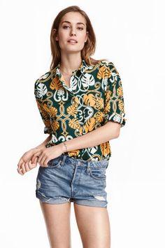 Chemise en coton à motif | H&M