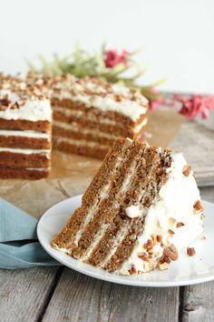 Paleo Spiced Carrot Cake #paleo #grainfree #glutenfree #easter