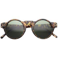 e71b67670 Matte Tortoise Green Futuristic Sunglasses, Oversized Glasses, Retro  Futuristic, Retro Look, Round