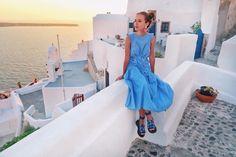 Santorini, Oia Santorini, Summer Dresses, Travel, Fashion, Moda, Viajes, Summer Sundresses, Fashion Styles, Destinations