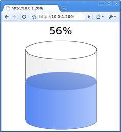 For measuring and displaying keg levels. Practical Arduino: Water Tank Depth Sensor
