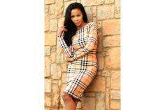 Tartan Bodycon Dress by Miss Toni Collection! Tartan, Wrap Dress, Two Piece Skirt Set, Bodycon Dress, Elegant, Winter, Pretty, Skirts, Stuff To Buy