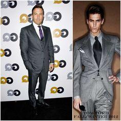 The Derek's Blog: Ben Affleck en Tom Ford - GQ Men of the Year Party 2012
