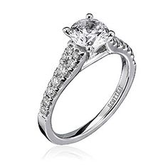 Scott Kay diamond solitaire engagement ring. Available at Spitz Jewelers. https://www.facebook.com/SpitzJewelers