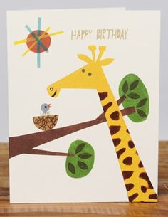Giraffe Birthday | Red Cap Cards by Christian Robinson