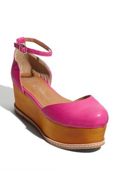 I love these Jeffrey Campbell 'Suebee' sandal in neon fuchsia they remind me of something Cher Horowitz would wear