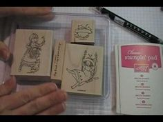 Blender Pen Shading Technique - Stampin' Up! Video Tutorial **** this technique actually uses the blender pen to move the ink from the stamped image versus coloring using ink pads