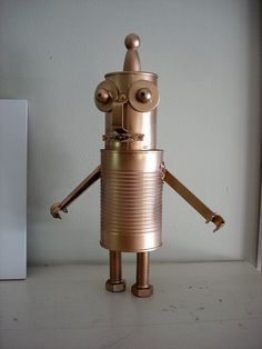 recycled robot by jenn of all trades, via Flickr