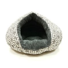 Cozy Cave Cat Bed / Small Dog Bed - Modern Grey at barker & meowsky a paw firm since 1998 carries dog clothes, dog accessories, dog carriers, dog collars, dog toys, dog beds and dog treats