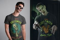 30% OFF! Colorful and monochrome Halloween vector designs are available to download on www.dgimstudio.com. Will be perfect for t-shirt and another apparel designs. 100% vector + editable texts. Super quality! #halloween #halloweendesign #tshirtdesign #appareldesign #costume #halloweencostume #spooky