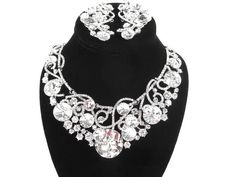 Chunky Rhinestone Crystal Bridal Statement by bloomsnbrides, $82.00