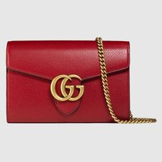 4e6c758b165926 GUCCI GG Marmont leather mini chain bag - red leather. #gucci #bags #