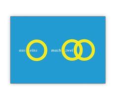 aus eins mach zwei - die Hochzeitsanzeige / der Glückwunsch für coole Brautpaare (mittel blau) - http://www.1agrusskarten.de/shop/aus-eins-mach-zwei-die-hochzeitsanzeige-der-gluckwunsch-fur-coole-brautpaare-mittel-blau/    00024_0_2888, Anzeige, Anzeigenkarten, Brautpaar, Einladung, Einladungskarte, Grusskarte, Hochzeit, Klappkarte00024_0_2888, Anzeige, Anzeigenkarten, Brautpaar, Einladung, Einladungskarte, Grusskarte, Hochzeit, Klappkarte