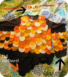 Love the addition of the tail feathers! Owl Halloween Costumes, Halloween 2013, Halloween Goodies, Halloween Activities, Holidays Halloween, Happy Halloween, Halloween Decorations, Easy Diy Costumes, Toddler Costumes