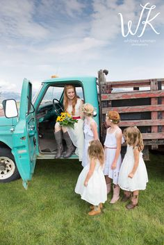 Bride & her flower girls