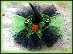 Witch Hat Hair Bow....Holiday Hair Bow....Halloween by kikibowz, $8.00