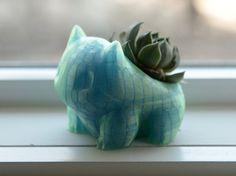 NIEUWE Bulbasaur Planter  Aurora Blue  Pokemon door SOLIDFACTORY