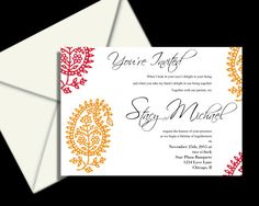 100 complete wedding invitation package, Indian wedding invitation suite ,  Hena wedding invitations, red moroccan style, budget wedding