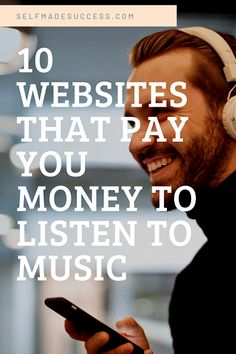 10 Websites That Pay You Money to Listen to Music - Self Made Success Make Money Fast, Make Money From Home, Way To Make Money, Earn Money, Make Money Online, Online Side Jobs, Online Work, Sell Music, Work From Home Careers