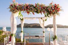 Visual maravilhoso - casamento na praia - cerimonial Vivianne Néo