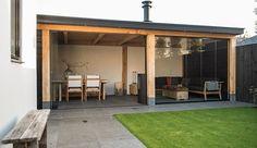 Pergola Over Front Door Backyard Patio Designs, Backyard Pergola, Backyard Landscaping, Outdoor Seating, Outdoor Rooms, Outdoor Living, Garden Cabins, House Extension Design, Outside Living