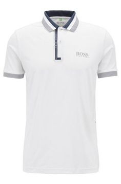 Discover men's designer polo shirts and casual wear in the official HUGO BOSS online shop. Secure your cotton or golf polo shirts now - with no shipping fees! Mens Designer Polo Shirts, Mens Polo T Shirts, Polo Shirt Design, Polo Design, Camisa Polo, Polo Shirt Brands, Le Polo, Casual Wear For Men, Hugo Boss Man