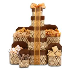 Alder Creek Fall Treat and Candy 5-Box Gift Tower
