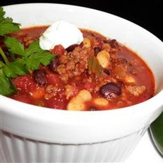 this is THE BEST chili I have ever made...Debdoozie's Blue Ribbon Chili Allrecipes.com