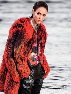 color splash: joan smalls by gilles bensimon for vogue mexico september 2015