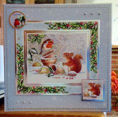 "Christmas Card (85) - 8""x8""- makings from Hunkydory"