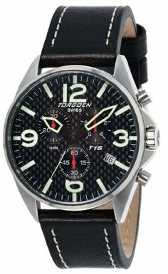 Torgoen Swiss Men's T16105 T16 Stainless-Steel Case Carbon Aviation Watch Torgoen Swiss. $430.00. 1/100 second stopwatch. Aviation and flight. International warranty. Water-resistant to 330 feet (100 M). Chronograph timer