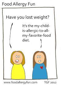 Food Allergy Fun: Diet - Food Allergy Cartoon
