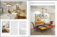 Tucson Lifestyle magazine features A Priori artisan tiles in kitchen. Design by Interiors in Design