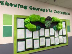 Incredible Hulk bulletin board.