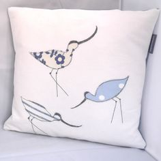 Avocets Appliqued Cushion £25.00