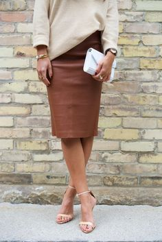 Brown Leather Pencil Skirt | Not Your Standard