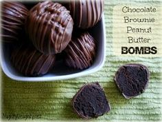 Chocolate brownie peanut butter bombs