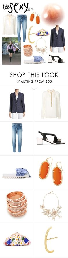 """""""your style and your store"""" by denisee-denisee ❤ liked on Polyvore featuring Equipment, MICHAEL Michael Kors, Yves Saint Laurent, Lanvin, Joshua's, Kendra Scott, Bronzallure, Oscar de la Renta, Santi and EF Collection"""