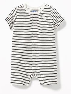 c016b82d1299 Old Navy Patterned Snap-Front One-Piece for Baby